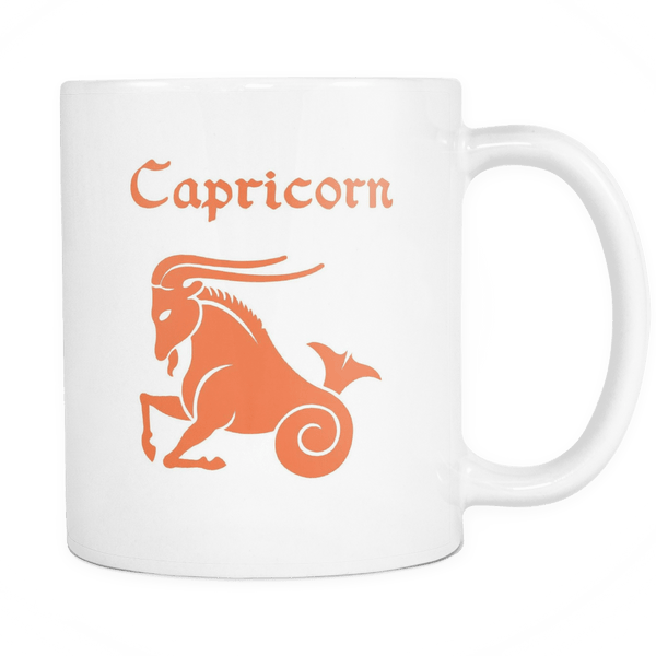 Colorful Capricorn White Mug