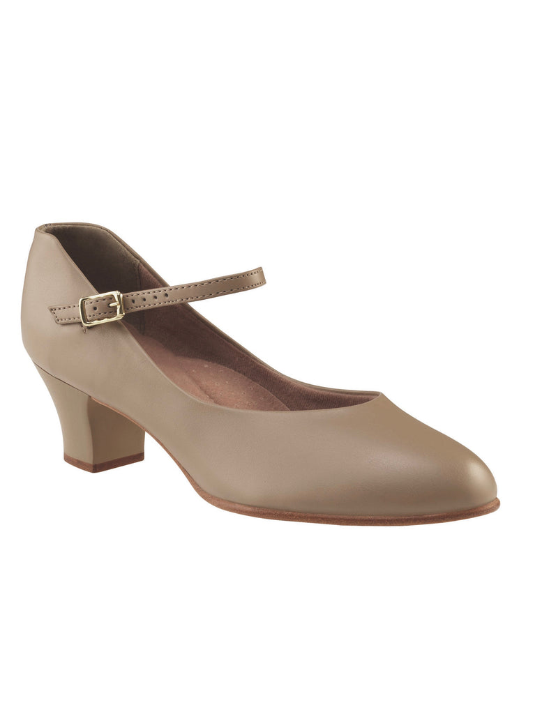 "Capezio JR. Footlight Character Shoes 1 1/2 "" - Tan"