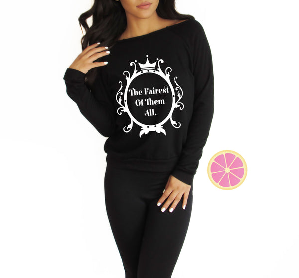Mirror Mirror on the wall, Eco fleece sweater, Made by Pink Lemonade