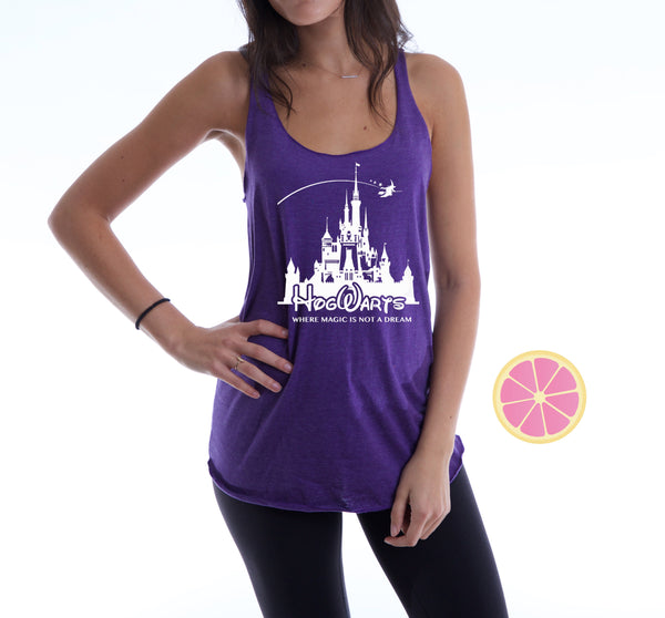 Hogwarts Harry Potter  Racerback Tank top. Made by Pink Lemonade