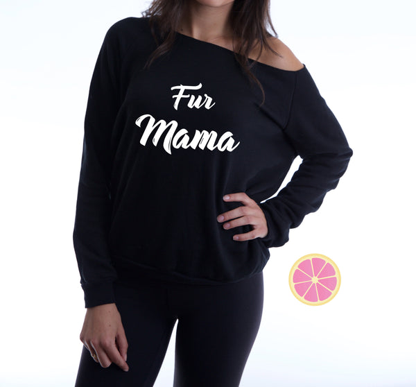 fur mama Off shoulder sweaters