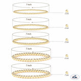 Set of Two 3mm Gold Filled Seamless Bead Bracelet