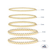 Set of Eight 3mm - 7mm seamless gold filled beaded bracelet