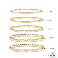 Set of Three 3mm Gold Filled Seamless Bead Bracelet