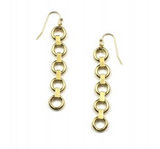 Petite Circle Chain Earrings