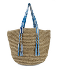 Friendship Straw Bag- Ocean Breaze