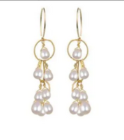Waterfall Earrings- Pearl