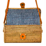 Nantucket Navy Stripe Slim Tote