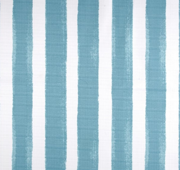 "22"" X 22"" Watercolor Aqua Stripe Pillows, Set of two"