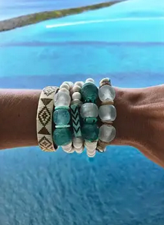 Trio Stack Bracelet Set - Surf