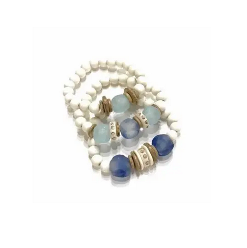 Trio Stack Bracelet Set - Sea Blue