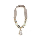 Mid Shell Necklace - Mist and Batik