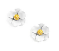 Mini Hand Painted Floral Stud Earring
