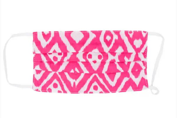 Kid Size: Pink Ikat Mask