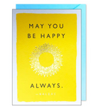 May You Be Happy Always... Greeting Card