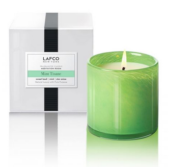 Lafco Candle - Large  Meditation Room Mint Tisane