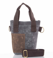 Waxed Canvas Wine Tote