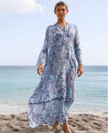 Lori Blues Floral Embroidered Tunic Dress (Arriving May 2021)