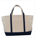 Large Canvas Boat Tote- Old Greenwich or Riverside