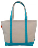 Large Canvas Boat Tote With Custom Name