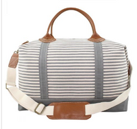 Weekender Nautical Striped Canvas Duffle Bag
