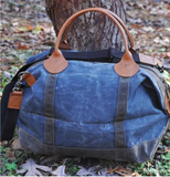 Waxed Canvas Weekender Duffle Bag