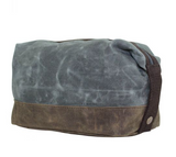 Waxed Top Zip Dopp Kit