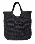 Large Woven Bag with Tassel