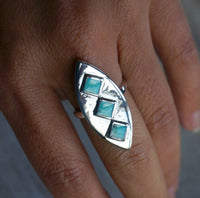 Turquoise Statement Ring, adjustable #3