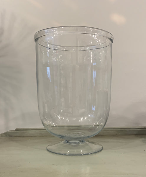 Large Round Bottom Glass Hurricane