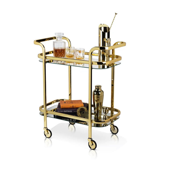 Brass Petite Bar Cart