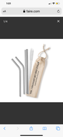 Re Usable Metal Straws and Cleaner