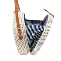 White Nantucket Navy Stripe