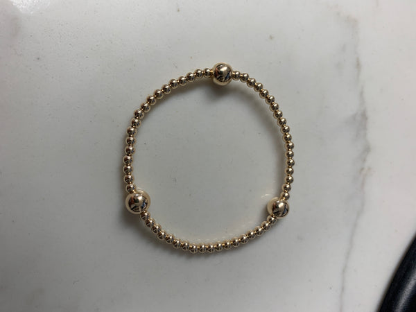 3mm and three 7mm Gold Filled Seamless Bracelet