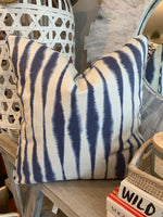 "22"" Indigo Sound Waves Pillows, Set of two"