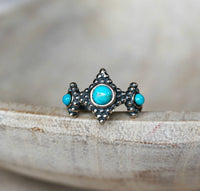 Squares Turquoise Ring, adjustable