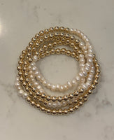 5mm GF Bracelet & Small Fresh Water Pearls