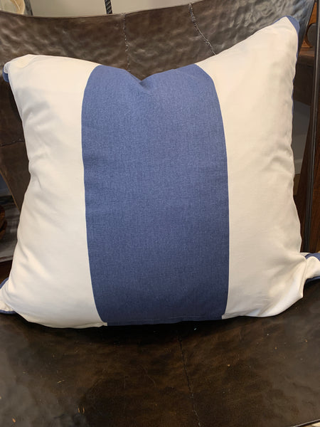 "26"" x 26"" Navy Cabana Stripe Pillows, Set of two"
