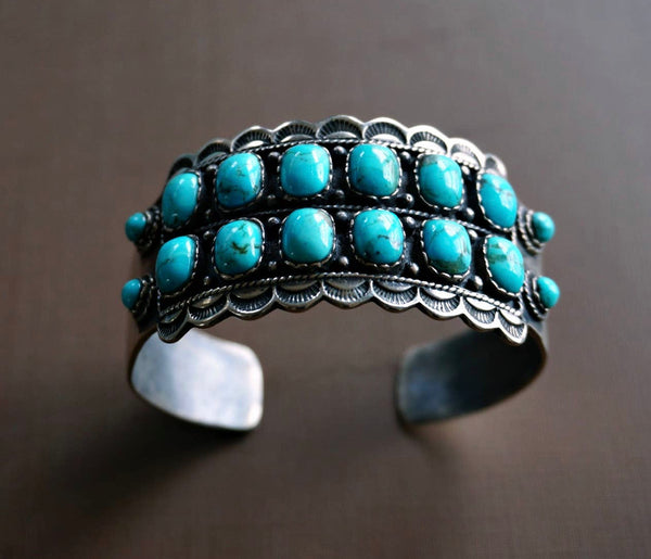 Statement Sterling Silver Turquoise Cuff