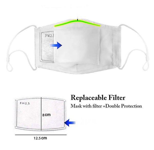 Mask Filter PM 2.5 carbon filter replacements