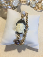 """Let that shit go"" Buddha Gold Filled Seamless Bead Bracelet"