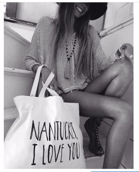 Nantucket I Love you bag