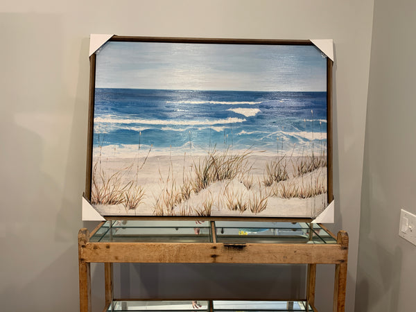 Coastal Seagrass Oil and Acrylic