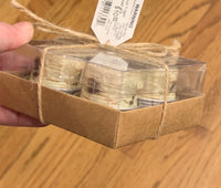 Boxed Birch Wood Tea Lights