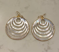 Sound Waves Mother of Pearl Earrings