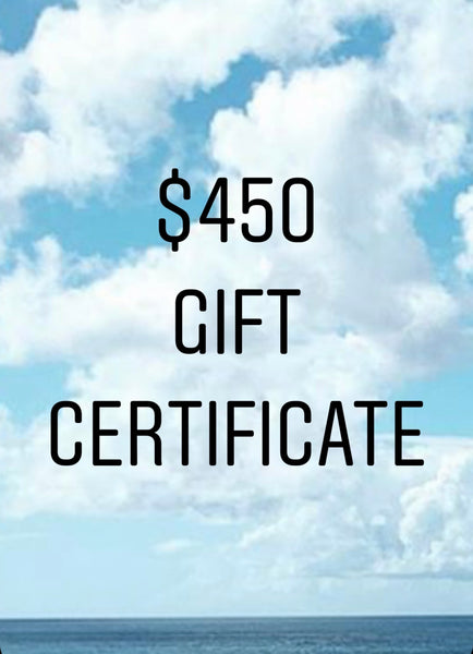 $450 Gift Certificate