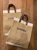 Jute Tall Tote- Embroidered