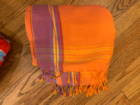 Terry Cloth Turkish Towel with Pocket