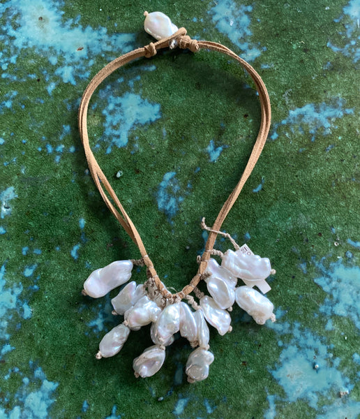 Natural Baroque Pearl Cluster Necklace