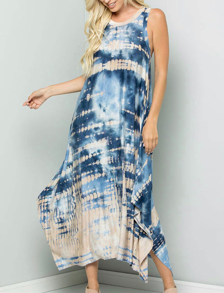 Tie-dyes Midi Dress
